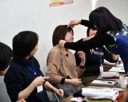 旧式糸除毛の実習