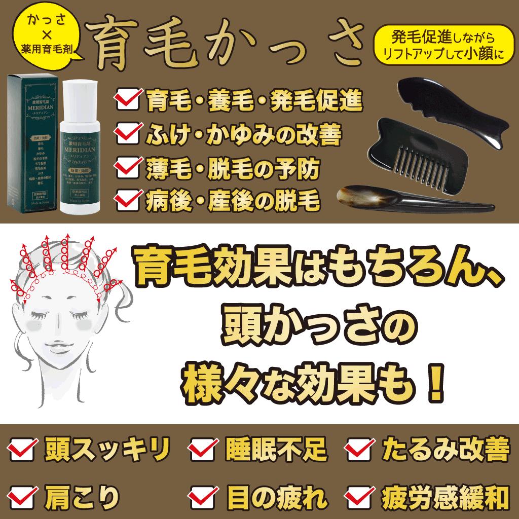 育毛かっさの効果には頭のかっさの効果もあります