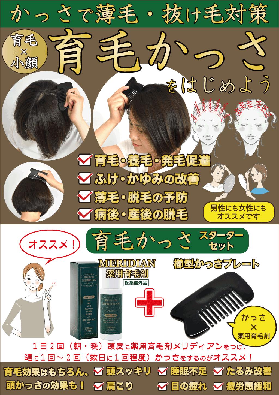 育毛かっさ スターターセットPOP例
